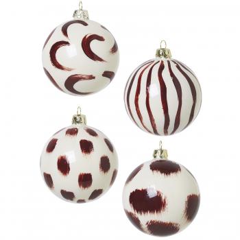 Designové vánoční ozdoby Christmas Hand Painted Glass Ornaments
