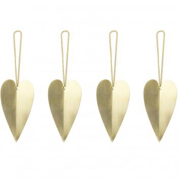 Designové vánoční ozdoby Heart Brass Ornament