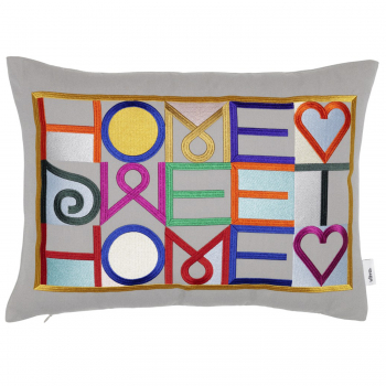 Designové polštáře Embroidered Pillows Home Sweet Home