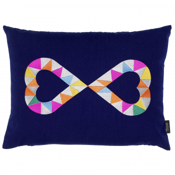 Designové polštáře Embroidered Pillows Double Heart 2