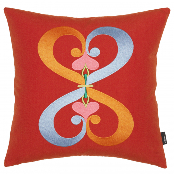 Designové polštáře Embroidered Pillows Double Heart