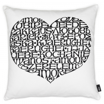 Designové polštáře Graphic Print Pillows International Love Heart