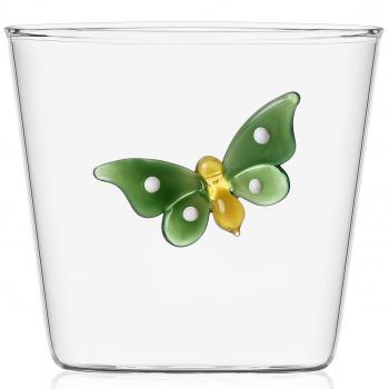 Designové sklenice na vodu Garden Pic Nic Tumbler Green Butterfly