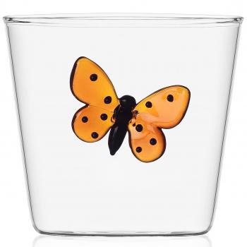 Designové sklenice na vodu Garden Pic Nic Tumbler Red Butterfly