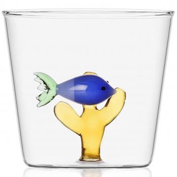 Designové sklenice na vodu Marine Garden Blue Fish Amber Seaweed