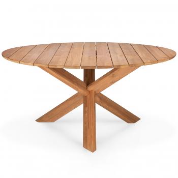 Designové zahradní stoly Teak Circle Outdoor Dining Table