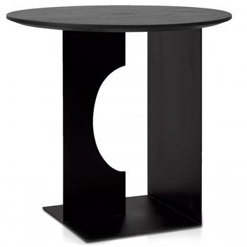 Designové odkládací stolky Teak Arc Black Table