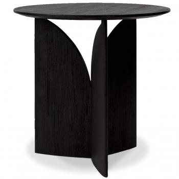Designové odkládací stolky Teak Fin Black Table