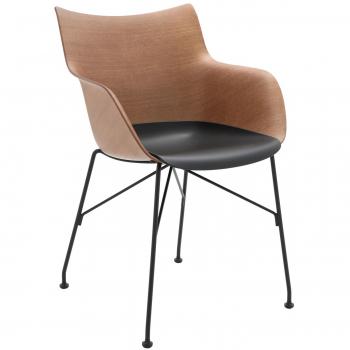 Designové jídelní židle Kartell Q/Wood