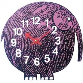 Designové dětské nástěnné hodiny Elihu The Elephant