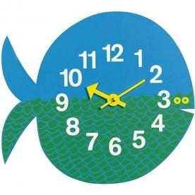 Designové dětské nástěnné hodiny Fernando The Fish