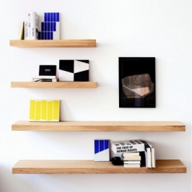 Výprodej Ethnicraft poličky Wall Shelf - Dub (70x22x5)