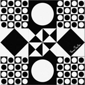 Designové koberce Verner Panton VP4 BW