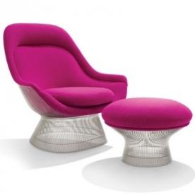 Designová křesla Platner Easy Chair & Ottoman