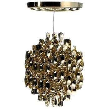 Designová závěsná svítidla Spiral Gold