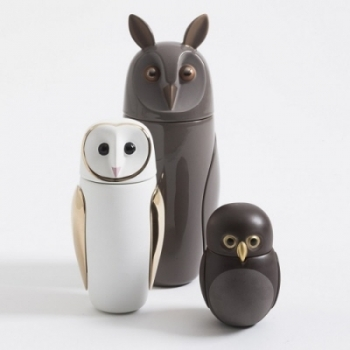 Designové dózy Owls