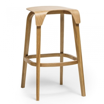 Designové barové židle Leaf