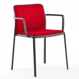 Kartell designové židle Audrey Armchair soft černá