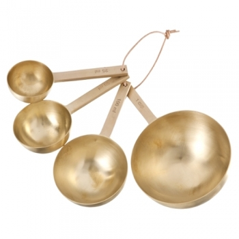 Designové odměrky Brass Measurement Spoons