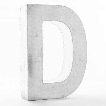 Designová stojací písmena Metalvetica