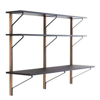 Designové pracovní stoly Kaari Wall Shelf with Desk