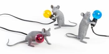 Designové dekoracní figurky / sochy Mouse Lamp
