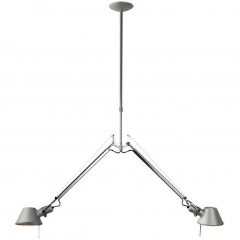 Designová závěsná svítidla Tolomeo Sospensione Due Bracci Alluminio