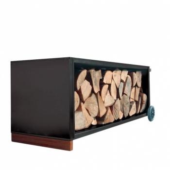 Designové zásobníky na dřevo Firewood Trolley