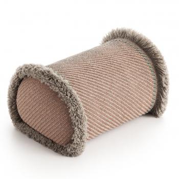 Designové polštáře GAN Garden Layers Big Roll Terracotta