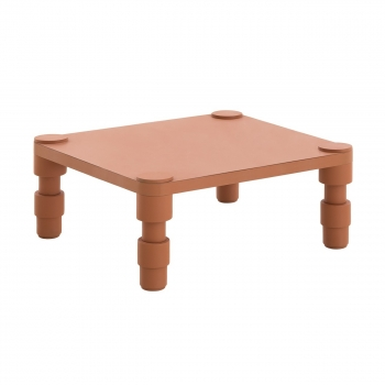 Designové konferenční stoly GAN Garden Layers Side Table Terracotta
