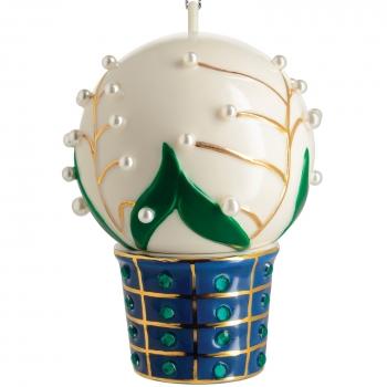 Designové vánoční ozdoby Mughetti e smeraldi