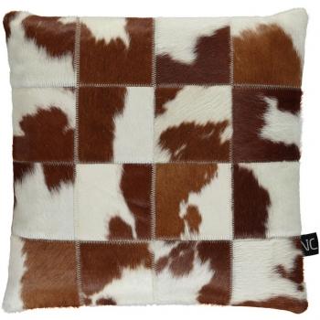 Designové kožešinové polštáře Cow Hide