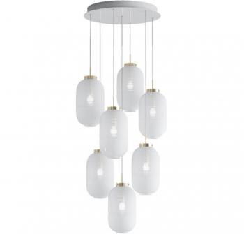 Designová závěsná svítidla Lantern Chandelier Round