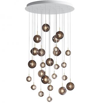 Designová závěsná svítidla Dark & Bright Star Chandelier Round