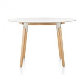 Designové jídelní stoly Steelwood Table kulaté