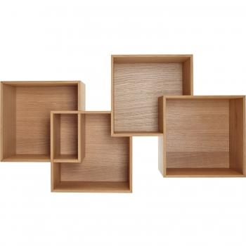 Designové nástěnné police Quadro 2 Shelf