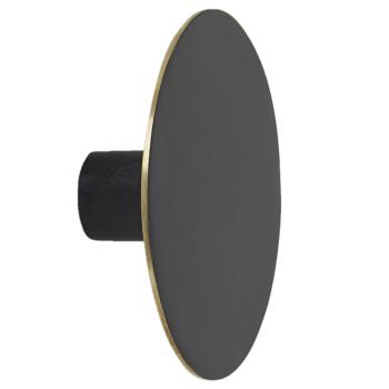 Designové nástěnné věšáky Hook Black Brass