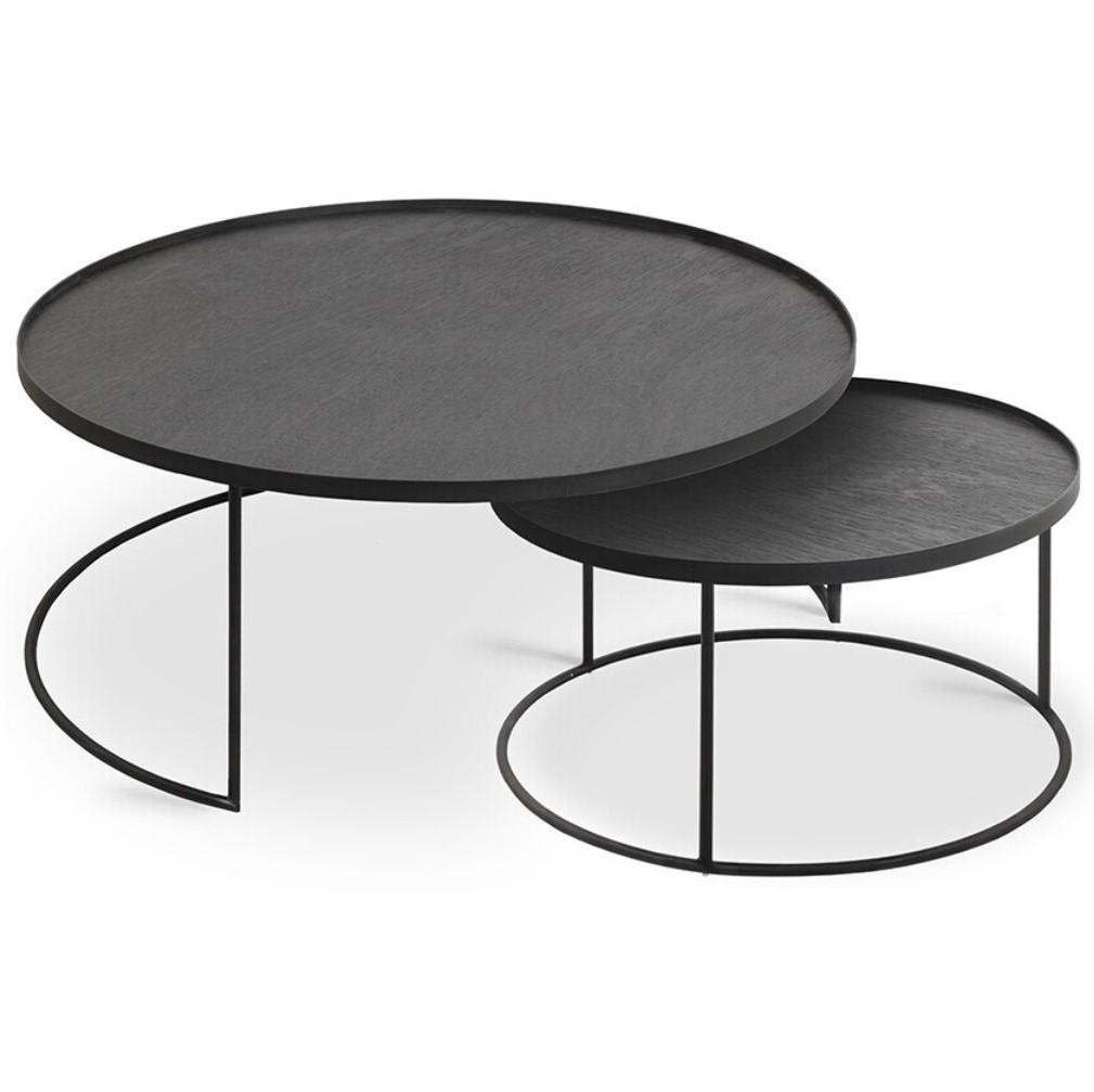 Designové konferenční stolky Round Tray Coffee Table Set