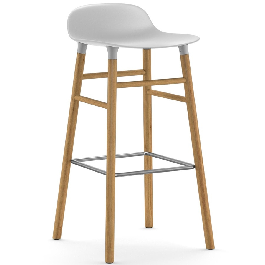 Designové barové židle Form Barstool Wood